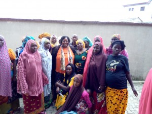 The women with one of our board members, Mrs Data Phido