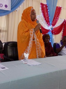 State Commissioner for Poverty Alleviation, Dr Zainab Gimba, delivering her keynote speech